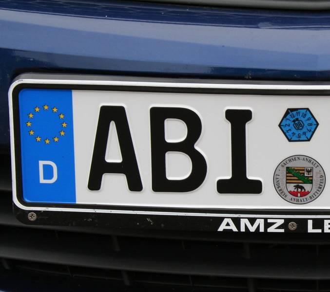 autokennzeichen © Landkreis Anhalt-Bitterfeld