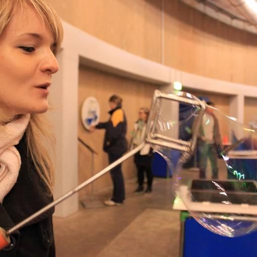 Blick auf die Mitmach-Ausstellung im Wasserzentrum Bitterfeld © Marit Schaller